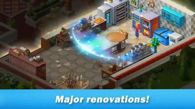 Restaurant renovation Apk Mod Unlimited Golds/Coins Free on Android