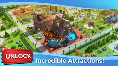 RollerCoaster Tycoon Touch Apk Unlimited Golds/Coins Mod Data Free on Android