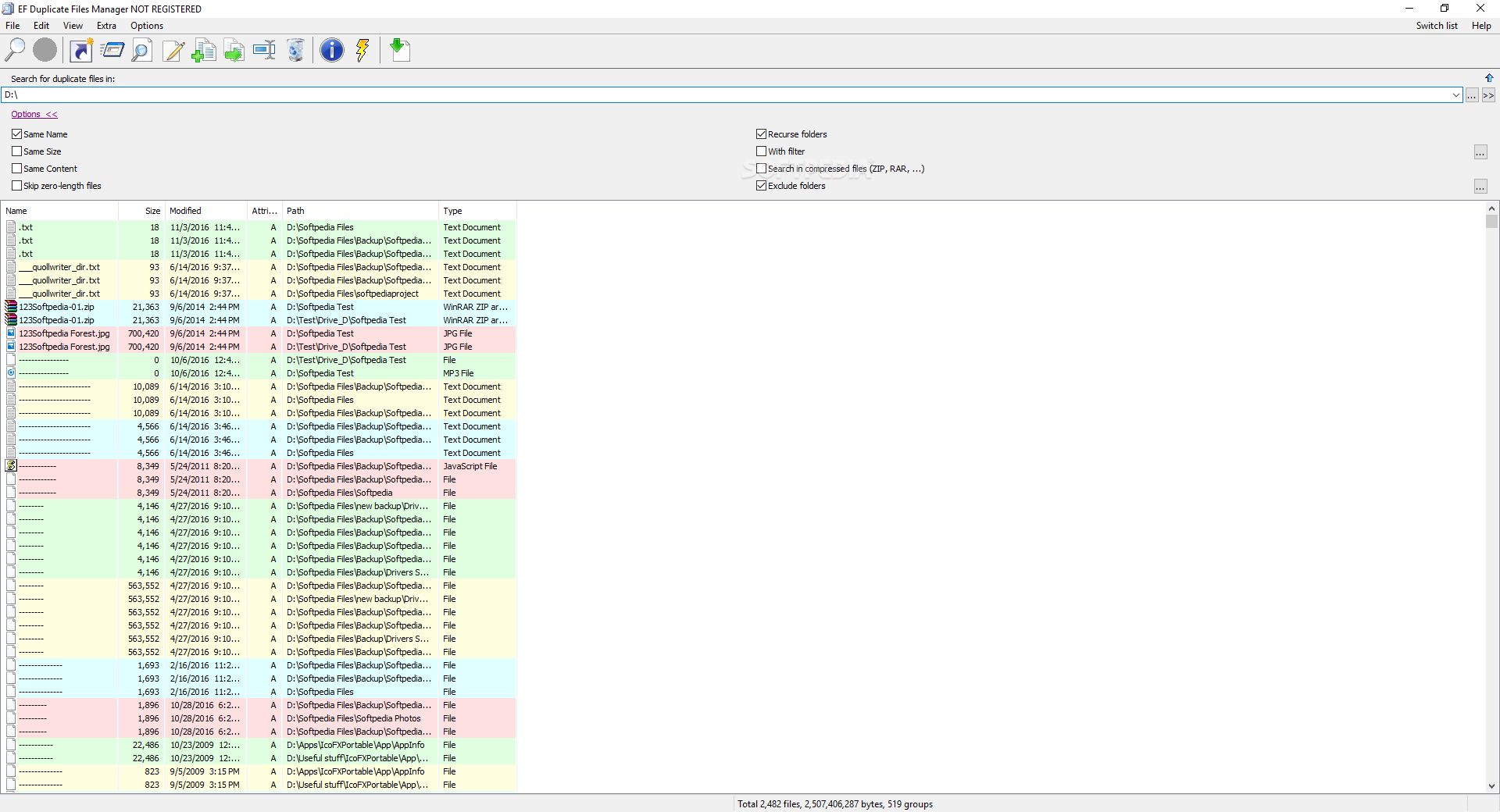 Portable EF Duplicate Files Manager cracked
