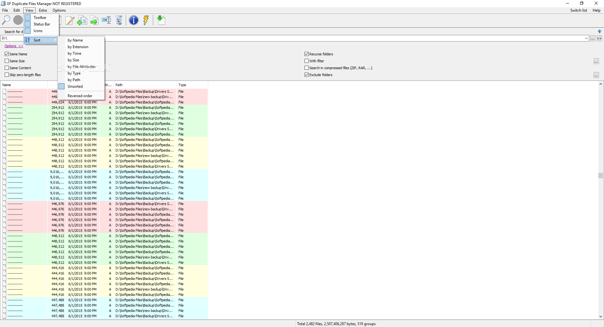 Portable EF Duplicate Files Manager cracked3