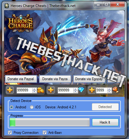 Heroes Charge Hack Cheats [Generate Gold/Diamonds/Food]
